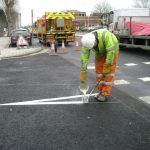 Sacriston Road Line Markings